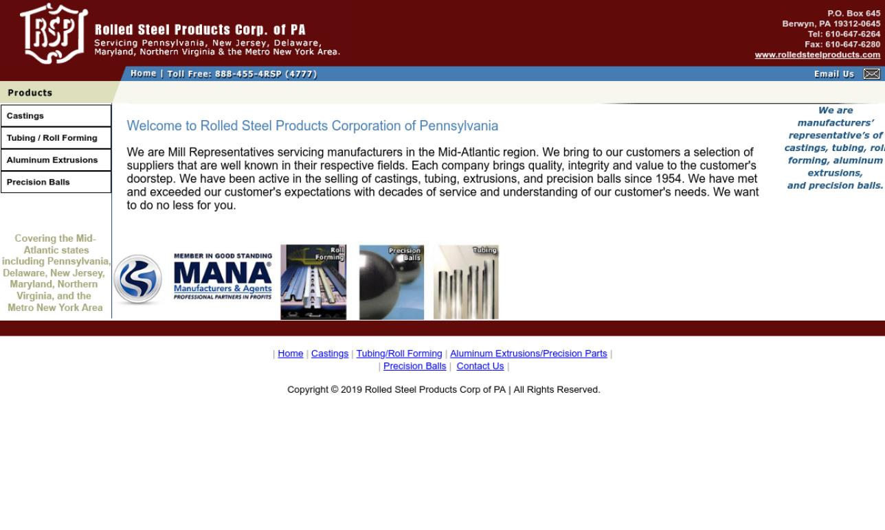 Rolled Steel Products Corp. of PA
